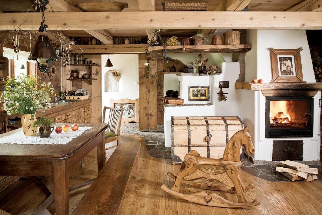 Интерьер своими руками деревенского дома фото