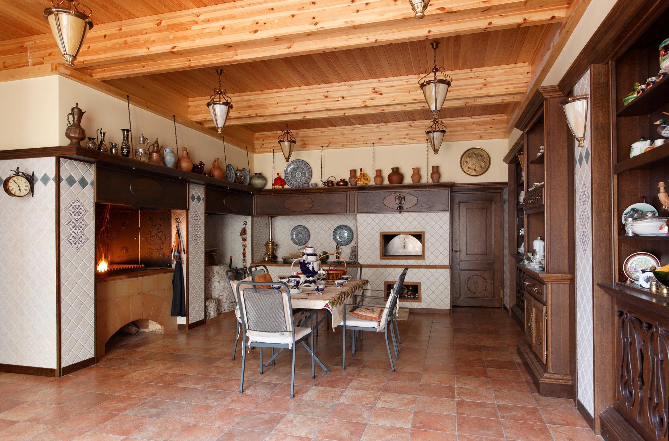современная кухня с русской печкой фото дошла наших